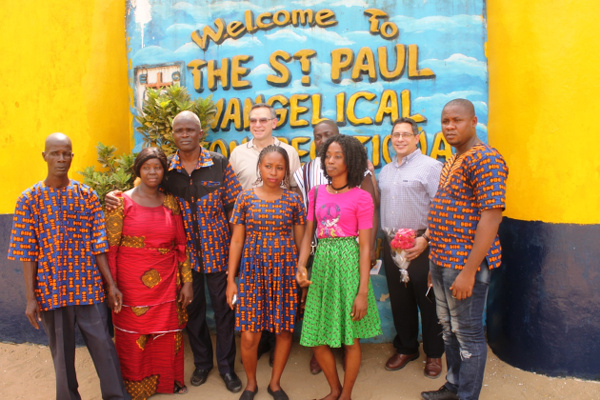 Some Members of the E.C Church of Liberia with the two international guests and their Bishop