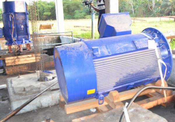Two New Electric Water Pumps recently Brought into the Country by LWSC